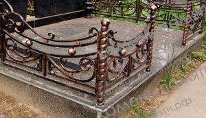 Кованые ограды для могил