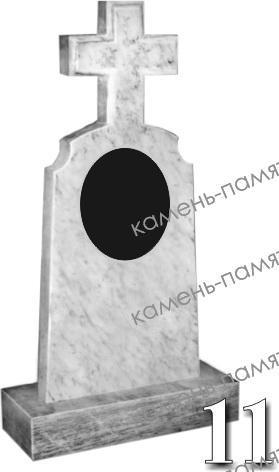 Памятники в форме креста из натурального мрамора